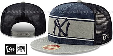 Yankees COOP HERITAGE-BAND TRUCKER SNAPBACK Navy-Grey Hat by New Era