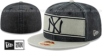 Yankees COOPERSTOWN HERITAGE-BAND Navy-Grey Fitted Hat by New Era