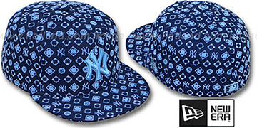 Yankees D-LUX ALL-OVER Navy-Columbia Fitted Hat by New Era