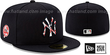 Yankees 'DASHMARK BP' Navy Fitted Hat by New Era