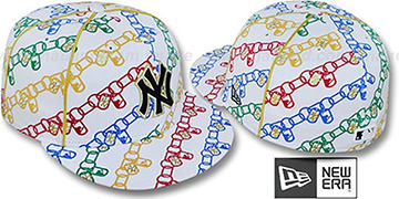 Yankees DAWG CHAIN White-Multi Fitted Hat by New Era
