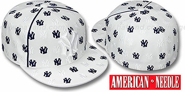 Yankees DICE ALL-OVER White Fitted Hat by American Needle