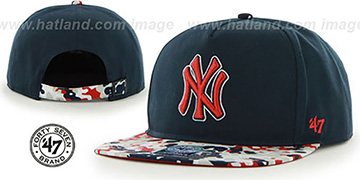 Yankees DRYTOP STRAPBACK Navy Hat by Twins 47 Brand