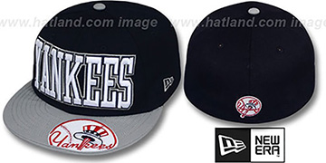 Yankees EPIC WORD Navy-Grey Fitted Hat by New Era