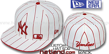 Yankees FABULOUS White-Red Fitted Hat by New Era