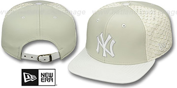 Yankees FISHSCALE LEATHER STRAPBACK Hat by New Era