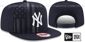 Yankees 'FLAG-FRONT SNAPBACK' Navy Hat by New Era