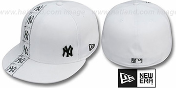 Yankees FLAWLESS CUBANO White-Black Fitted Hat by New Era