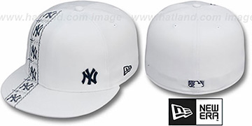 Yankees FLAWLESS CUBANO White-Team Color Fitted Hat by New Era