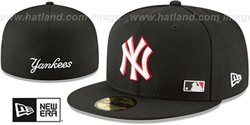 Yankees 'FLAWLESS PINNED-UP' Black Fitted Hat by New Era