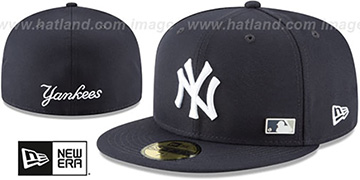 Yankees FLAWLESS PINNED-UP Navy Fitted Hat by New Era