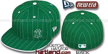 Yankees FLAWLESS PINSTRIPE Kelly-White Fitted Hat by New Era