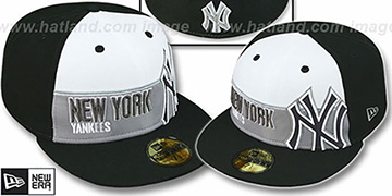 Yankees 'FOUL BALL' White-Black Fitted Hat by New Era