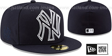 Yankees FRAME-FRONT Navy Fitted Hat by New Era