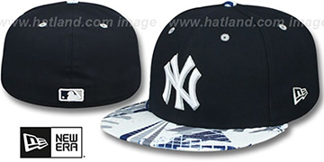 Yankees GEOMET TRICK Navy Fitted Hat by New Era