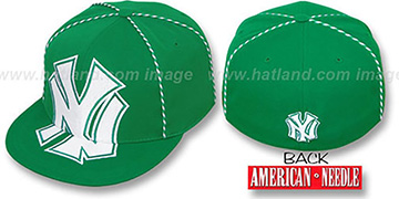 Yankees GETTIN-WEAVE Kelly Fitted Hat by American Needle