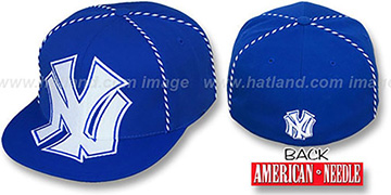 Yankees GETTIN-WEAVE Royal Fitted Hat by American Needle