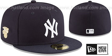 Yankees GILDED TURN Navy Fitted Hat by New Era
