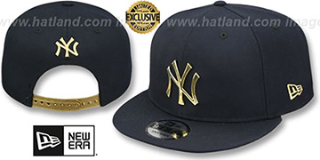 Yankees 'GOLD METAL-BADGE SNAPBACK' Navy Hat by New Era