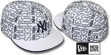Yankees 'GOOD TIMES ALL-OVER' White-Navy Fitted Hat by New Era
