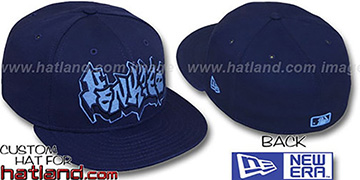 Yankees GRAFFITI Navy-Columbia Fitted Hat by New Era