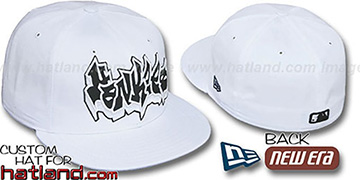Yankees 'GRAFFITI' White-Black Fitted Hat by New Era