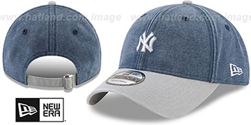 Yankees GW RUGGED CANVAS STRAPBACK Navy-Grey Hat by New Era