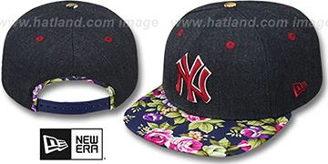 Yankees HEATHER BLOOM SNAPBACK Navy Hat by New Era