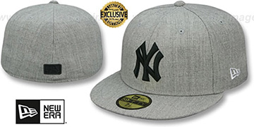 Yankees HEATHER-POP Light Grey Fitted Hat by New Era