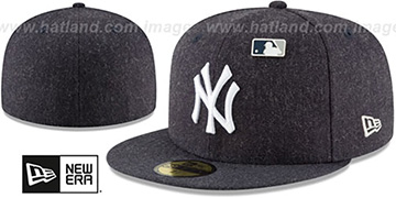 Yankees 'HEATHERED-PIN' Navy Fitted Hat by New Era