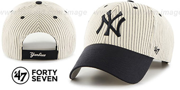 Yankees 'HOME-RUN PINSTRIPE STRAPBACK' Hat by Twins 47 Brand