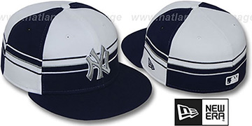 Yankees 'HORIZONTAL WRAP' Navy-White Fitted Hat by New Era