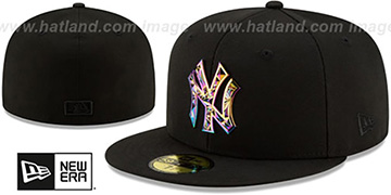 Yankees IRIDESCENT COLOR-SHIFT Black Fitted Hat by New Era