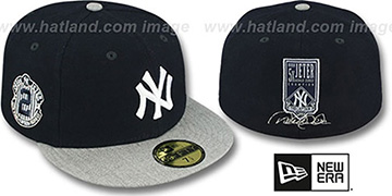 Yankees 'JETER 5X WORLD SERIES CHAMP SIGNATURE' Navy-Grey Hat by New Era