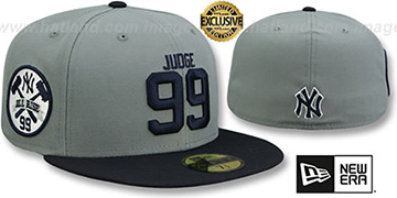 Yankees JUDGE ALL RISE SIDE Grey-Navy Fitted Hat by New Era