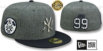 Yankees JUDGE ALL RISE SILVER METAL-BADGE Grey-Navy  Fitted Hat by New Era