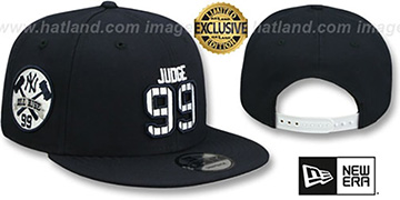 Yankees JUDGE PINSTRIPE ALL RISE SNAPBACK Navy Hat by New Era