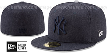 Yankees JUMBO HEATHER Navy Fitted Hat by New Era