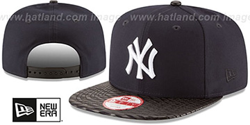 Yankees 'LEATHER-RIP SNAPBACK' Navy-Black Hat by New Era