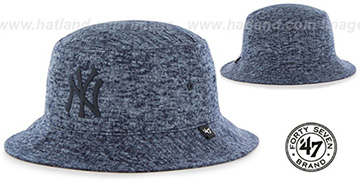 Yankees LEDGEBROOK BUCKET Navy Hat by Twins 47 Brand