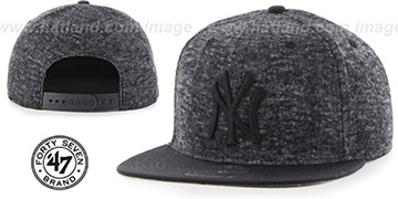 Yankees 'LEDGEBROOK SNAPBACK' Black Hat by Twins 47 Brand