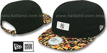 Yankees LEOPARD CAMPER STRAPBACK Black Hat by New Era