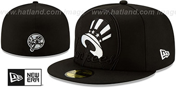 Yankees LOGO ELEMENTS Black-White Fitted Hat by New Era