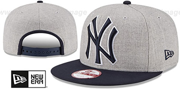 Yankees 'LOGO GRAND SNAPBACK' Grey-Navy Hat by New Era