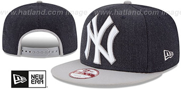 Yankees LOGO GRAND SNAPBACK Navy-Grey Hat by New Era