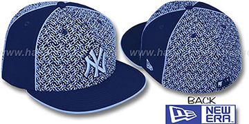 Yankees LOS-LOGOS Navy-Columbia Fitted Hat by New Era