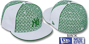 Yankees LOS-LOGOS White-Green Fitted Hat by New Era