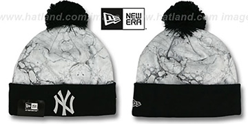 Yankees MARBLE Knit Beanie Hat by New Era
