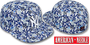 Yankees 'MATISE' White-Team Color Fitted Hat by American Needle