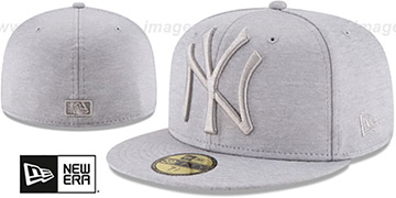 Yankees MEGATONE Grey Shadow Tech Fitted Hat by New Era